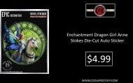 Enchantment Dragon Girl Anne Stokes Die-Cut Auto Sticker