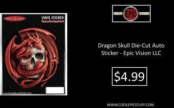 Dragon Skull Die-Cut Auto Sticker - Epic Vision LLC