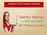 Dial Amazon Prime Support Number 1-866-307-1943