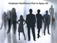 Employer Healthcare Plan in Apex NC