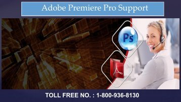 Adobe Premiere Pro Support Phone Number