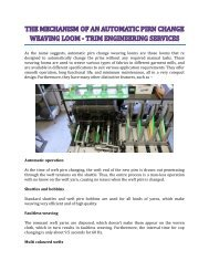 The Mechanism Of An Automatic Pirn Change Weaving Loom