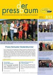 Franz Schuster Gedenkturnier - Volkspartei Pressbaum