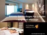 Toronto Spa Massage Packages for Couples - King Thai Massage