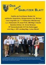 Bürgermeister Ing. Michael Cech begrüßte zur - Gablitz