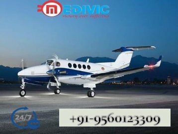 Very Low Fare Air Ambulance Bhopal with the Medical Team