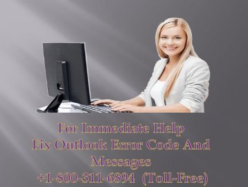 Fix Outlook Error Code And Messages +1-800-311-6894
