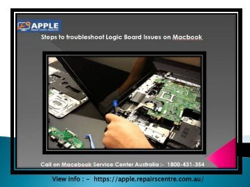 Steps to troubleshoot Logic Board Issues on Macbook