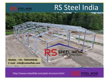 RS Steel India| PEB Buildings, Prefabricated structure, Industrial shed