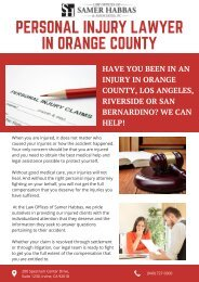 Personal Injury Lawyer in Orange County