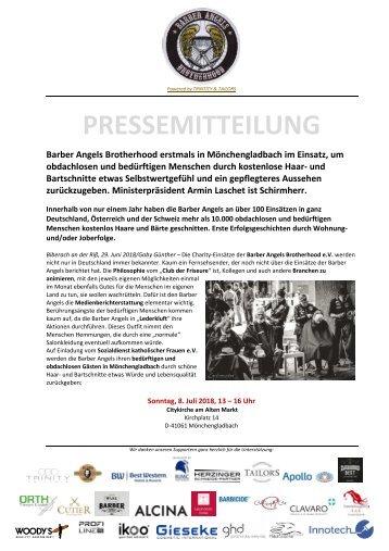 Pressemitteilung Barber Angels_Mönchengladbach Juli 2018
