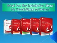 What Are The Installation Steps For Trend Micro Antivirus?