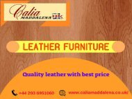 Buy Leather Furniture from Calia Maddalena-At best prices
