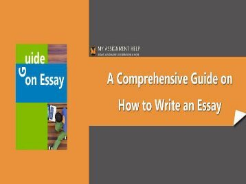 A Comprehensive Guide on How to Write an Essay pdf