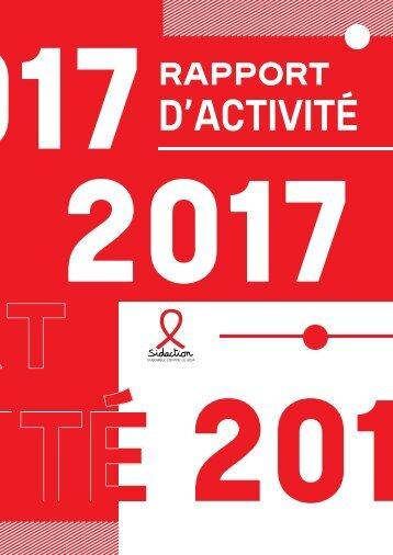 Rapport d'activité Sidaction 2017