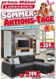 Sommer-Aktions-Tage bei Prima Möbel in 07356 Lobenstein