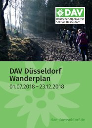 DAV Düsseldorf Wanderplan