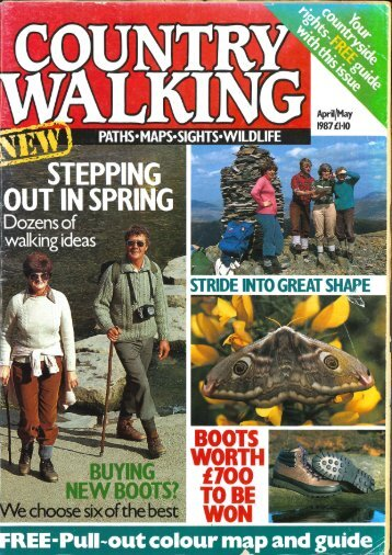 Country Walking – the first ever issue, April/May 1987