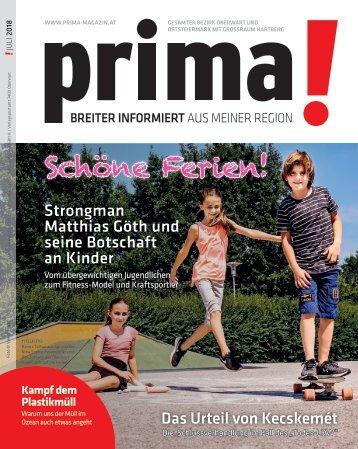 prima! Magazin – Ausgabe Juli 2018