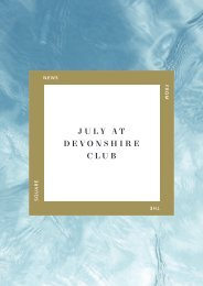 July at Devonshire Club