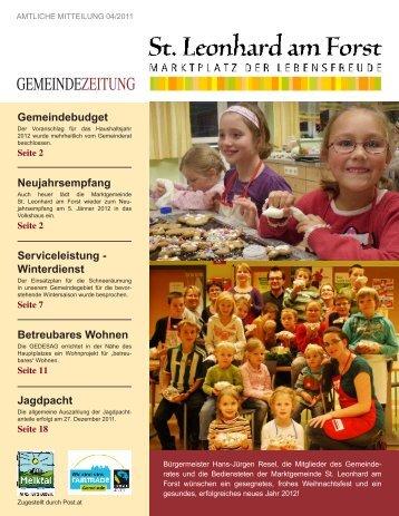 Gemeindezeitung 04/2011 (3,29 MB) - St. Leonhard am Forst