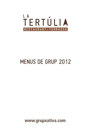 MENUS DE GRUP 2012 - arrosseria xativa