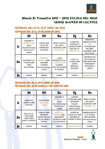 MENÚS 3r 11.12 DEL MAR SENSE LACTOSA.GLUTEN ... - amipa