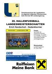 Erich Handschuh - Gedenkturnier - NÖ Landeslehrer
