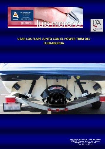 USAR LOS FLAPS JUNTO CON EL POWER TRIM DEL FUERABORDA - Fondear.org