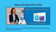 Steps to Fix Vipre Error 1722 Call 1-800-658-7602 Customer Service Number