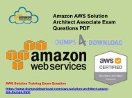 AWS-Solution-Architect-Associate Dumps