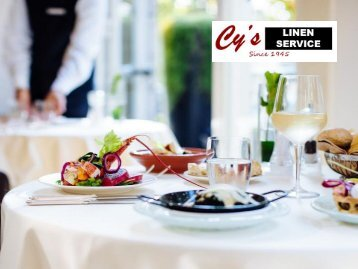 Commercial Linen Services to Restaurants - Cy's Linen Service