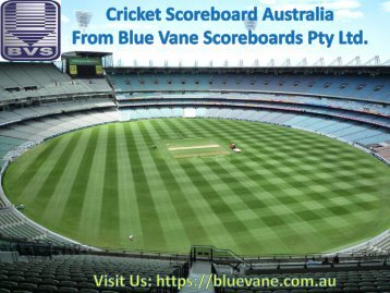 Buy Best Cricket Scoreboard Australia fromBlue Vane, Victoria