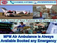 MPM Air Ambulance Services in Bangalore with Medical Team