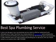 Best Spa Plumbing Service