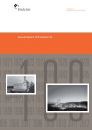 Annual Report 2011 Holcim Ltd - AnnualReports.com