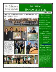 april, 2011 alumni e-newsletter - St. Mary's High School