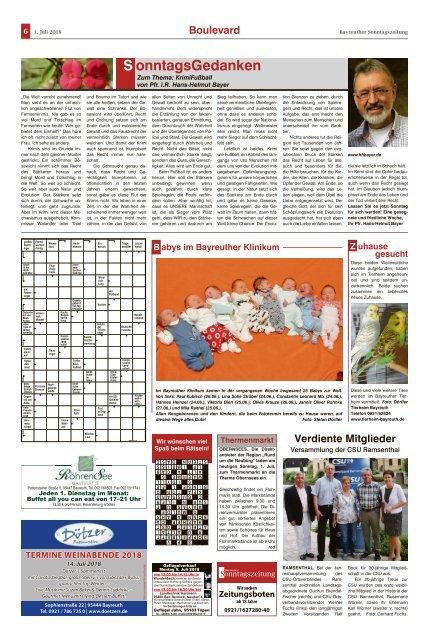 2018-07-01 Bayreuther Sonntagszeitung