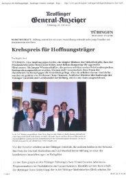 Reutlinger Generalanzeiger 06.07.2010 - Dres. Bayer-Stiftung