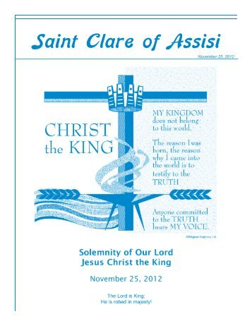 Bulletin - November 25, 2012 - Saint Clare of Assisi Parish