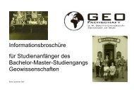 Stundenplan (vorläufig!!!) - Fachbereich Geowissenschaften ...