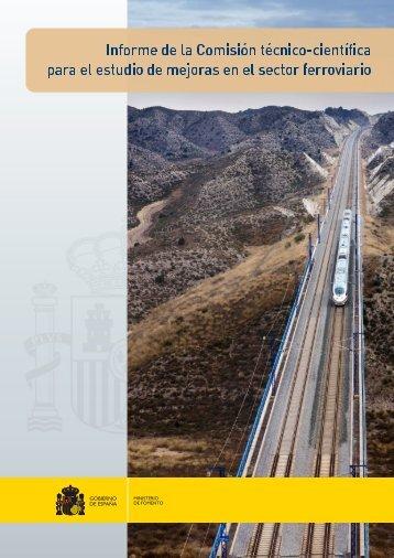 Informe comisión técnico cientifica sector ferroviario 2014