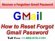 Recover a Forgotten Gmail Password 29-06