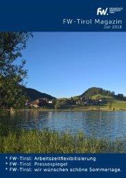 FW-Tirol Sommermagazin 2018