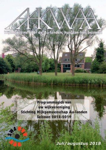 Wijkblad Aakwaa juli/augustus programmagids 2018 2019