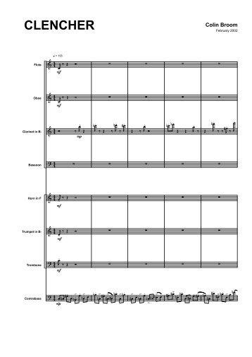 Colin Broom - Clencher (Score)