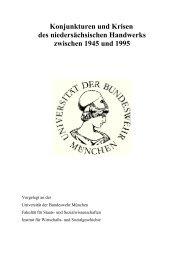 Konjunkturen und Krisen des niedersächsischen Handwerks ...