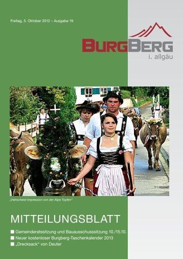 ansprechpartner für ihre anzeigenwerbung - Burgberg