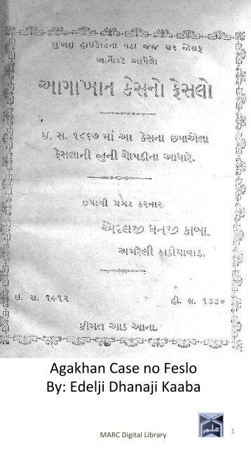 Book 52 Agakhan Case no Feslo CO