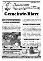 Der Bürgermeister Informiert - Gewerbeverein Aschau